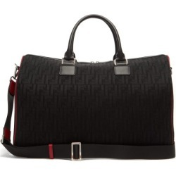 Fendi - Leather-trimmed Ff-mesh Holdall - Mens - Black found on Bargain Bro UK from Matches UK