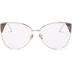 Linda Farrow - Ida Cat-eye 18kt Gold-plated Glasses - Womens - Tortoiseshell found on MODAPINS from Matches Global for USD $704.00