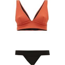 Haight - Mismatched Crepe Bikini - Womens - Black Orange found on MODAPINS from MATCHESFASHION.COM - AU for USD $66.96