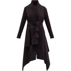 Norma Kamali - Asymmetric Cotton-blend Coat - Womens - Black