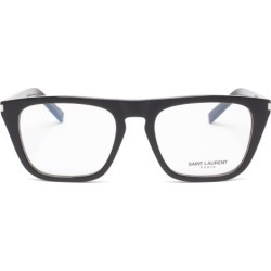 Saint Laurent - Flat-top Square Acetate Glasses - Mens - Clear found on Bargain Bro from Matches Global for USD $277.40