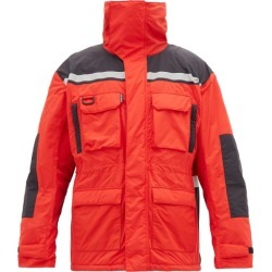 Balenciaga - High Neck Technical-shell Parka - Mens - Black Red found on Bargain Bro UK from Matches UK