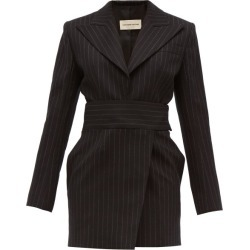 Alexandre Vauthier - Double-breasted Pinstriped Wool-blend Mini Dress - Womens - Black Multi found on Bargain Bro UK from Matches UK