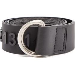 Maison Margiela - Logo-appliqué D-ring Rubber And Grosgrain Belt - Mens - Black Multi found on Bargain Bro UK from Matches UK