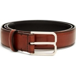 Berluti - Essence Leather Belt - Mens - Brown found on MODAPINS from Matches Global for USD $640.00