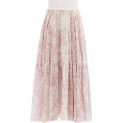Giambattista Valli - Floral-print Silk-georgette Skirt - Womens - Pink Multi found on MODAPINS from Matches Global for USD $2640.00