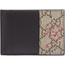 Gucci - Snake-print Gg Supreme Coated Canvas Cardholder - Mens - Beige found on Bargain Bro UK from Matches UK