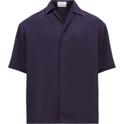 Deveaux - Camp-collar Tencel Shirt - Mens - Navy found on Bargain Bro India from MATCHESFASHION.COM - AU for $175.79