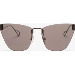 Balenciaga - Cat-eye Metal Sunglasses - Womens - Black Grey found on Bargain Bro India from MATCHESFASHION.COM - AU for $417.28