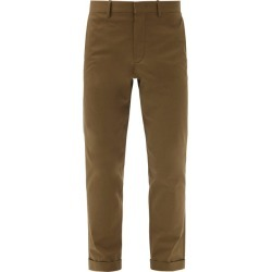 Caruso - Cropped Cotton-blend Gabardine Chinos - Mens - Khaki found on MODAPINS from MATCHESFASHION.COM - AU for USD $252.00