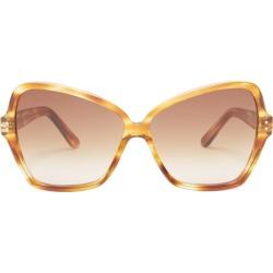 Celine Eyewear - Butterfly Acetate Sunglasses - Womens - Tortoiseshell found on Bargain Bro UK from Matches UK