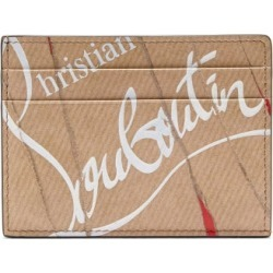 Christian Louboutin - Kraft Kios Smooth Leather Cardholder - Mens - Beige found on Bargain Bro Philippines from Matches Global for $290.00
