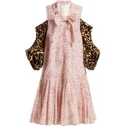 JW Anderson - Leopard-print Sleeve Polka-dot Dress - Womens - Pink Multi found on MODAPINS from MATCHESFASHION.COM - AU for USD $935.34