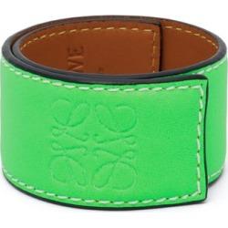 Loewe Paula's Ibiza - Anagram-debossed Leather Slap Bracelet - Womens - Green found on Bargain Bro UK from Matches UK