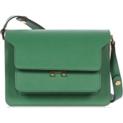 Marni - Trunk Medium Saffiano-leather Shoulder Bag - Womens - Green found on Bargain Bro UK from Matches UK
