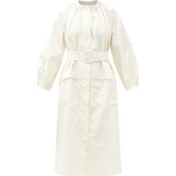 Jil Sander - Drop-shoulder Gathered-taffeta Midi Dress - Womens - White found on Bargain Bro UK from Matches UK