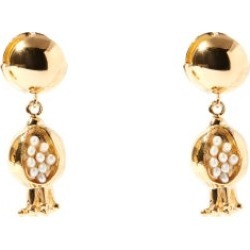 Etro - Pomegranate Faux-pearl And Metal Drop Earrings - Womens - Gold Multi found on Bargain Bro UK from Matches UK