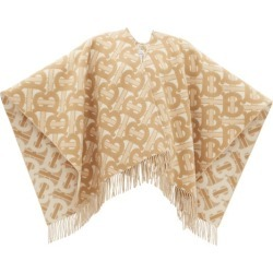 Burberry - Tb-monogram Merino-blend Poncho - Womens - Cream Multi found on Bargain Bro India from Matches Global for $1390.00