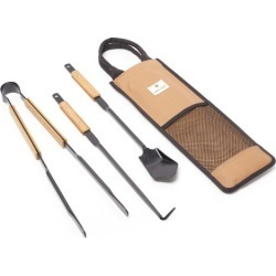 Snow Peak - Steel-metal And Bamboo Fire Tool Set - Mens - Brown found on Bargain Bro Philippines from MATCHESFASHION.COM - AU for $118.66