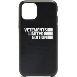 Vetements - Haute Couture Leather Iphone® 11 Pro Case - Mens - Black