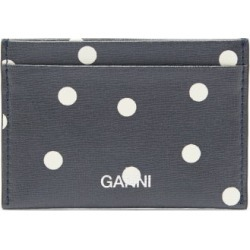 Ganni - Logo Polka-dot Leather Cardholder - Womens - Navy White found on Bargain Bro India from Matches Global for $85.00
