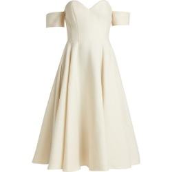 Sara Battaglia - Off-the-shoulder Wool-blend Dress - Womens - Cream found on Bargain Bro Philippines from MATCHESFASHION.COM - AU for $291.73