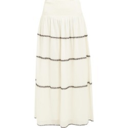 Anaak - Lago Topstitched Cotton Maxi Skirt - Womens - Ivory found on MODAPINS from Matches Global for USD $118.00