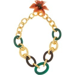 Dolce & Gabbana - Flower Pendant Cable-chain Necklace - Womens - Green Multi found on Bargain Bro from Matches UK for £1307