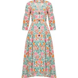 Isa Arfen - Sorrento Floral-print Cotton Dress - Womens - Pink Multi found on MODAPINS from Matches Global for USD $190.00