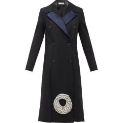 JW Anderson - Crystal-embellished Wool-twill Coat - Womens - Black