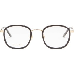 Gucci - Square Metal And Acetate Glasses - Mens - Clear found on Bargain Bro from Matches Global for USD $364.80