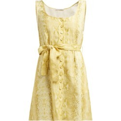 Emilia Wickstead - Snakeskin-print Linen Dress - Womens - Yellow found on Bargain Bro UK from Matches UK