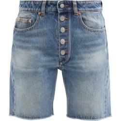 Mm6 Maison Margiela - High-rise Straight-leg Denim Shorts - Womens - Denim found on Bargain Bro UK from Matches UK