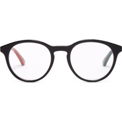 Gucci - Round-frame Acetate Glasses - Mens - Black found on Bargain Bro from Matches Global for USD $243.20