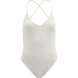 Norma Kamali - Fara Crossover-strap Modal-blend Jersey Bodysuit - Womens - Light Grey found on Bargain Bro UK from Matches UK