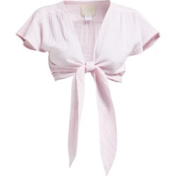 Anaak - Maithili Tie Front Cotton Muslin Top - Womens - Pink found on MODAPINS from MATCHESFASHION.COM - AU for USD $207.81