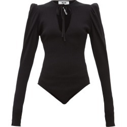 MSGM - Puff-sleeve Ribbed-jersey Bodysuit - Womens - Black found on Bargain Bro UK from Matches UK