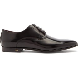 Dolce & Gabbana - Logo-plaque Leather Derby Shoes - Mens - Black found on Bargain Bro from Matches UK for £578