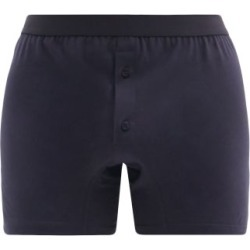 Comme Des Garçons Shirt - Cotton-jersey Boxer Shorts - Mens - Navy found on MODAPINS from Matches UK for USD $42.41