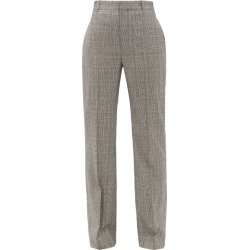 Balenciaga - Straight-leg Checked Wool Tailored Trousers - Womens - Grey found on Bargain Bro India from Matches Global for $950.00