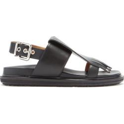 Marni - Fringed Leather Slingback Sandals - Womens - Black found on Bargain Bro UK from Matches UK