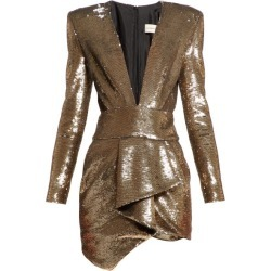 Alexandre Vauthier - Plunge-neck Sequinned Mini Dress - Womens - Gold found on Bargain Bro UK from Matches UK