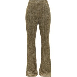 Peter Pilotto - Plissé Metallic-jersey Trousers - Womens - Gold found on Bargain Bro Philippines from MATCHESFASHION.COM - AU for $360.21