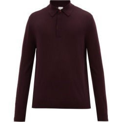 Paul Smith - Striped-placket Merino-wool Polo Shirt - Mens - Burgundy found on Bargain Bro UK from Matches UK