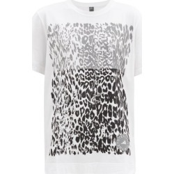 Adidas By Stella Mccartney - Leopard-print Organic-cotton Jersey T-shirt - Womens - White Print found on Bargain Bro Philippines from MATCHESFASHION.COM - AU for $100.65