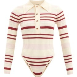 Dodo Bar Or - Penny Striped Ribbed-knit Bodysuit - Womens - Pink Multi found on Bargain Bro UK from Matches UK