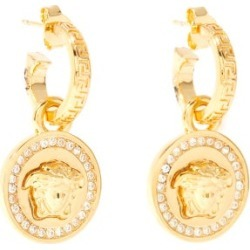 Versace - Medusa And Crystal Drop Earrings - Womens - Gold found on Bargain Bro UK from Matches UK