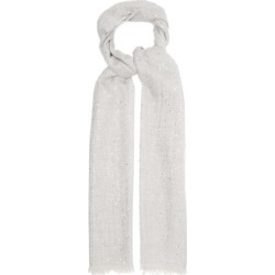 Brunello Cucinelli - Sequinned Wool-blend Scarf - Womens - Light Grey found on MODAPINS from Matches Global for USD $1495.00
