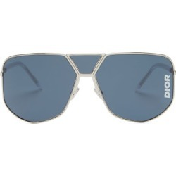 Dior Eyewear - Diorultra Aviator-style Sunglasses - Mens - Silver found on Bargain Bro UK from Matches UK