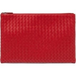 6ba3c15927af Bottega Veneta - Intrecciato Leather Pouch - Womens - Red found on MODAPINS  from Matches UK